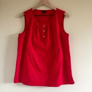 Talbots Queen Bee Jeweled Button Top 14
